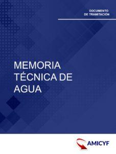 MEMORIA TÉCNICA DE AGUA