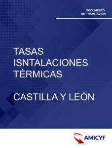 1. TASAS ISNTALACIONES TÉRMICAS EN CASTILLA Y LEÓN