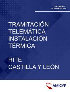 5. TRAMITACIÓN TELEMÁTICA PARA INSTALACIÓN TÉRMICA - RITE CASTILLA Y LEÓN