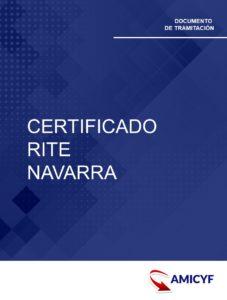 7. CERTIFICADO RITE - REGLAMENTO DE INSTALACIÓN TÉRMICA EN LOS EDIFICIOS - NAVARRA