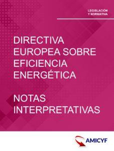 DIRECTIVA EUROPEA SOBRE EFICIENCIA ENERGÉTICA - NOTAS INTERPRETATIVAS