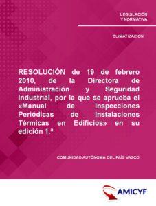 Manual de Inspecciones País Vasco de Instalaciones térmicas en Edificios.